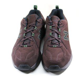 New Balance  608v4 4E Brown Suede Trainers Shoes